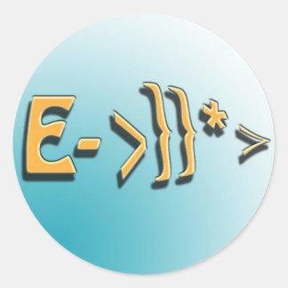 E-Fisk Runt Klistermärke