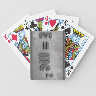 E = kvadrerade MC Spelkort