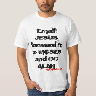 E-post JESUS som är framåt det till MOSES och CC Tshirts
