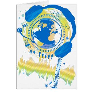 Earth_Music Hälsningskort
