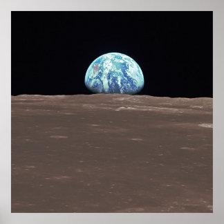 Earthrise från månen poster