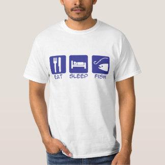 Eat_Sleep_Fish_BLUE T Shirts