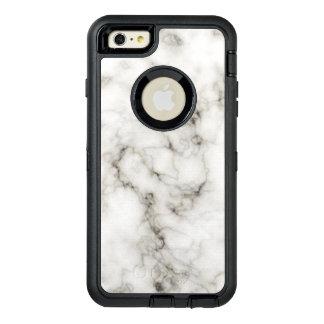 Ebenholtssvart sten för marmor för vit för OtterBox defender iPhone skal