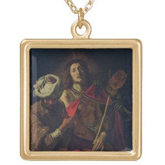 Ecce Homo (olja på kanfas) Guldpläterat Halsband