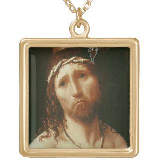 Ecce Homo (olja på panel) Guldpläterat Halsband