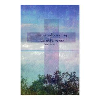 Ecclesiastes för scripture för bibelversekonst brevpapper