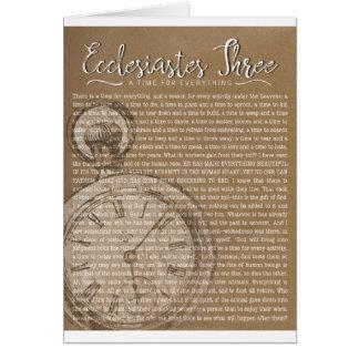 Ecclesiastes tre, religiös uppmuntran hälsningskort