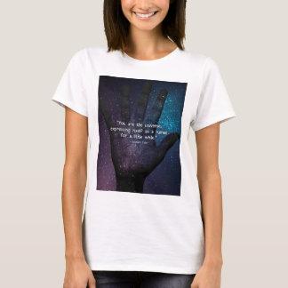 Eckhart Tolle universumcitationstecken Tee Shirts