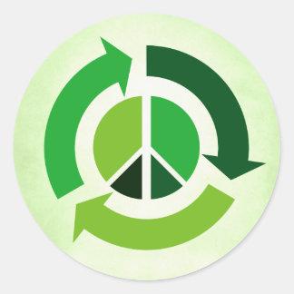 Eco fred runt klistermärke