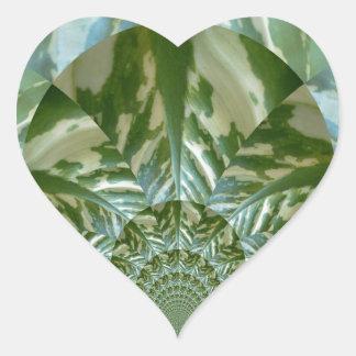 Eco - gående gröna miljö- vänskapsmatchfärger hjärtformat klistermärke