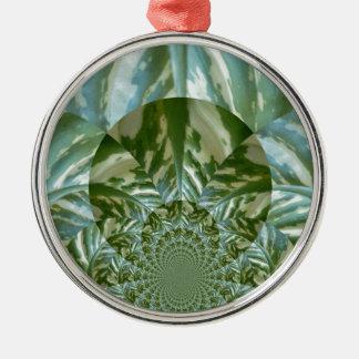 Eco - gående gröna miljö- vänskapsmatchfärger julgransprydnad metall