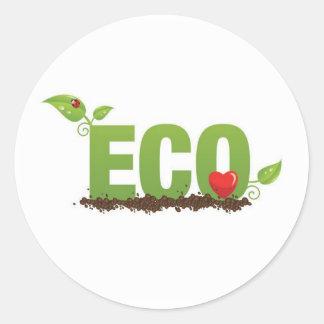 Eco-kärlek Runt Klistermärke