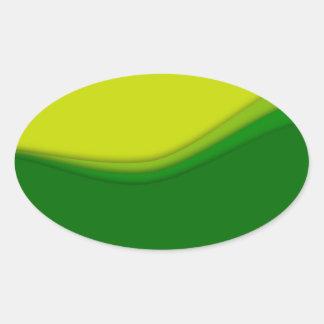 Eco linjer ovalt klistermärke