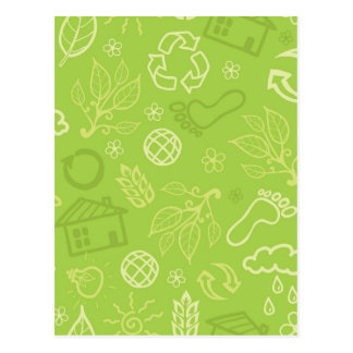 Eco miljö- grönt mönster vykort