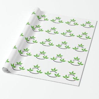 Eco vänlig affärslogotyp presentpapper