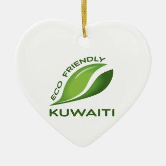 Eco vänlig Kuwaiti. Julgransprydnad Keramik