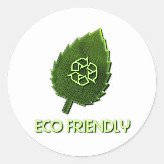 Eco vänskapsmatchklistermärke runt klistermärke