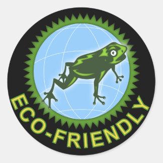 Eco vänskapsmatchklistermärkear runt klistermärke