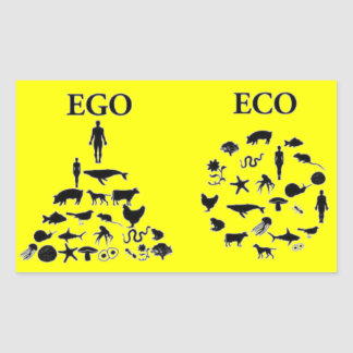 Eco vs Ego Rektangulärt Klistermärke