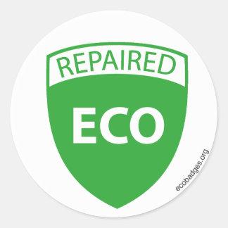 EcoBadge: Repaired2 Runt Klistermärke
