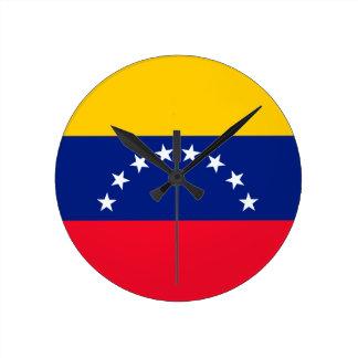 Ecuador flagga rund klocka