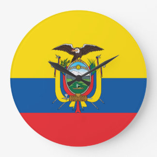 Ecuador flagga stor klocka