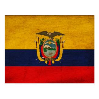 Ecuador flagga vykort