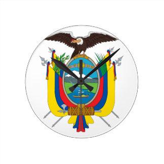 Ecuador vapensköld rund klocka