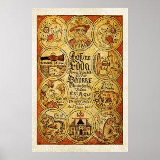 Edda NorseScandinvian Mythology Poster