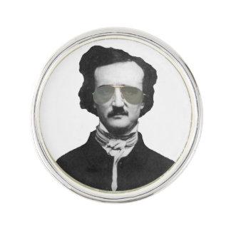 Edgar Allan Poe i solglasögon Rockslagsnål