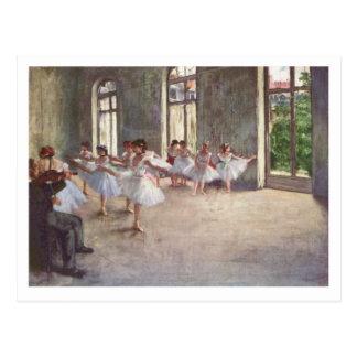Edgar Degas | balettrepetitionen ny adress | Vykort