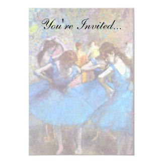 Edgar Degas - dansare i blått - balettdansälskare 12,7 X 17,8 Cm Inbjudningskort