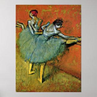 Edgar Degas - dansare på barren Poster