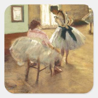 Edgar Degas danskursen Fyrkantigt Klistermärke