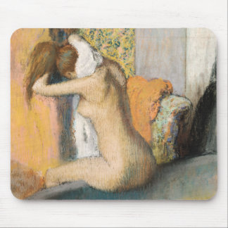 Edgar Degas   efter badet, kvinnauttorkningnacke Musmatta