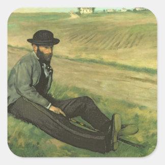 Edgar Degas | Eugene Manet Fyrkantigt Klistermärke
