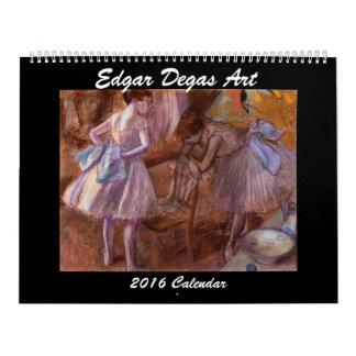Edgar Degas kalendern för konst 2016 Kalender