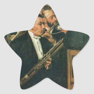 Edgar Degas orkesteren av operan Stjärnformat Klistermärke
