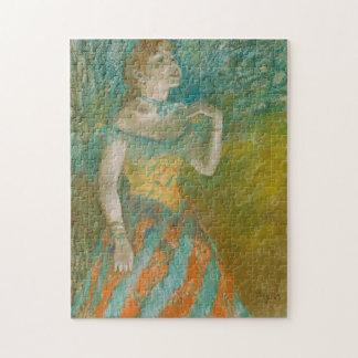 Edgar Degas sångaren Pussel