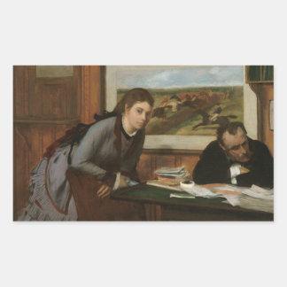 Edgar Degas - sura Rektangulärt Klistermärke