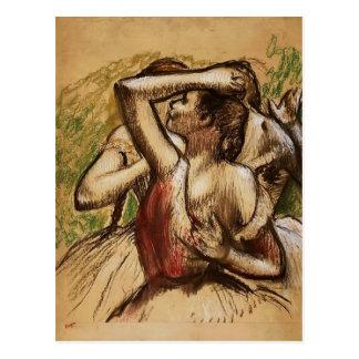 Edgar Degas: Tre balettdansörer Vykort