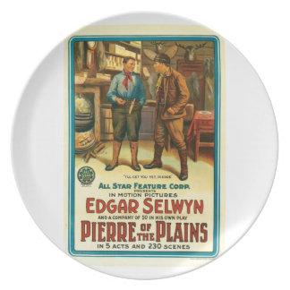 Edgar Selwyn Pierre av slättar 1914 filmar affisch Tallrik