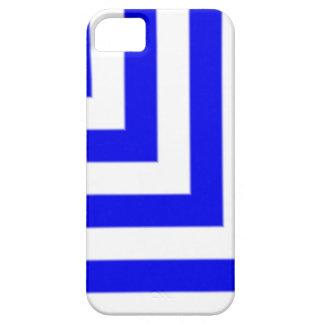 Edgy blått- och vitrandar iPhone 5 fodraler