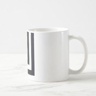 Edgy svartvitt kaffemugg