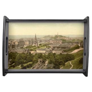 Edinburgh från slottet, Skottland Frukostbricka