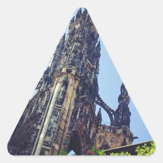 Edinburgh Scotts monument Triangelformat Klistermärke