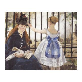 Edouard Manet den järnväg vintagekonsten Canvastryck