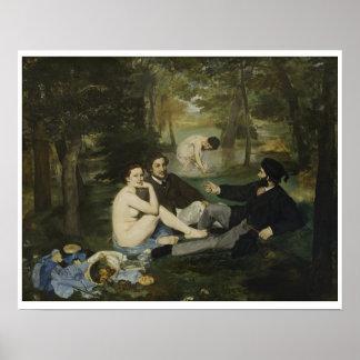 Edouard Manet - Luncheon på gräset Poster