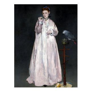 Édouard Manet ung dam i 1866 Vykort