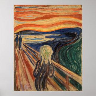Edvard Munch skrimålningen Poster